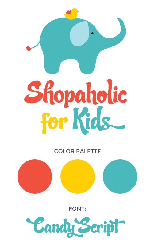 Logo Design For Shopaholic For Kids