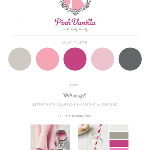 Logo Design For Pink Vanilla