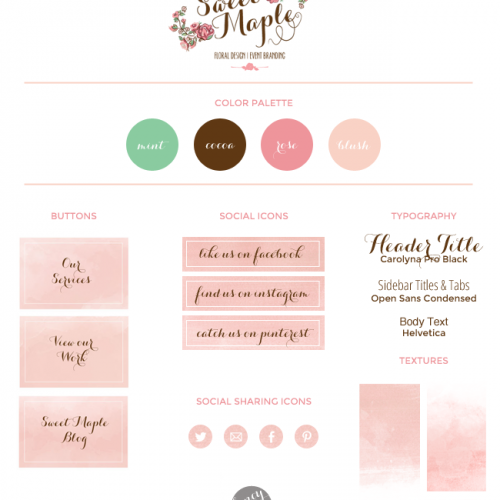 Watercolor Textures For Sweet Maple Design