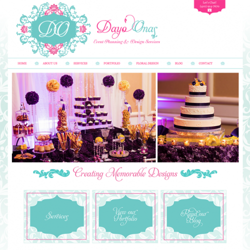 Logo & Website Development For Dayo Onas Event Planning
