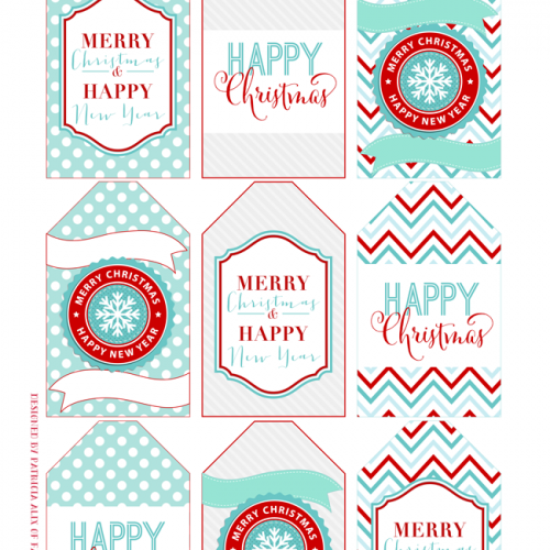 Day 2 – Printable Christmas Gift Tags