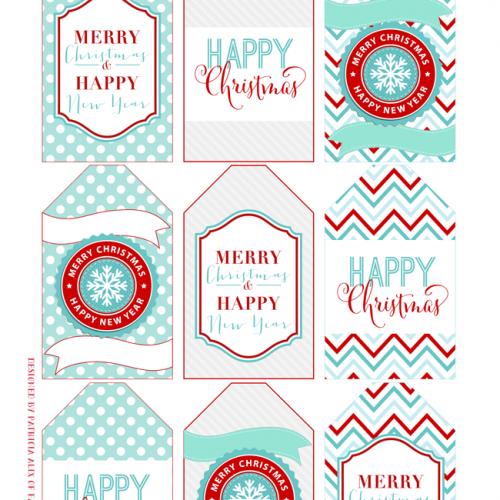 Day 2 – Printable Christmas Gift Tags