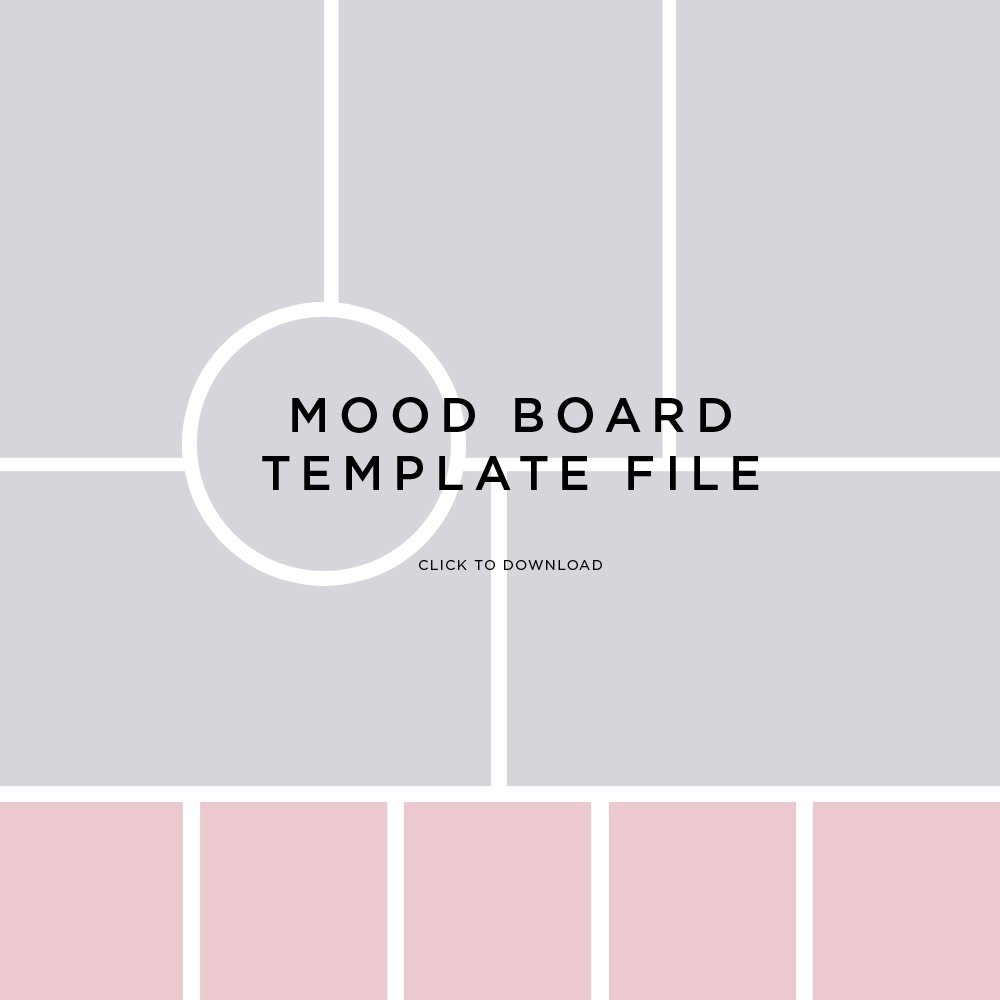 Mood Board Template File by FancyGirl Design Studio