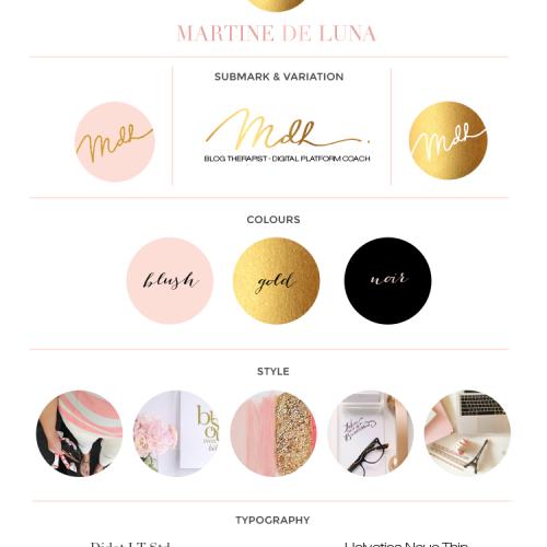 Logo & Brand Design For Martine De Luna