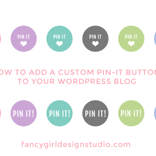 How to Use a Custom Pin it Button on Your Blog