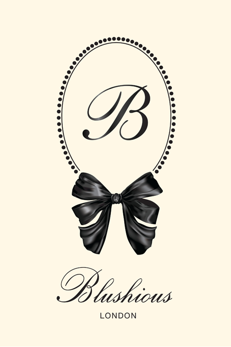 Blushious London Logo Ivory by Fancy Girl Design Studio