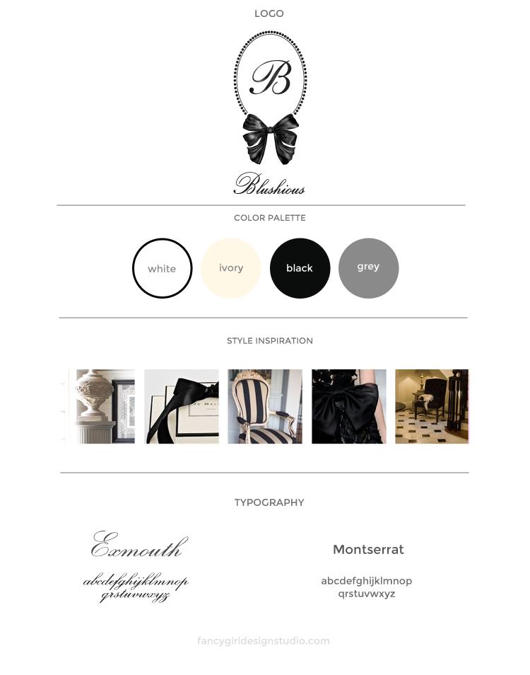 Blushious London Brand Board by Fancy Girl Design Studio