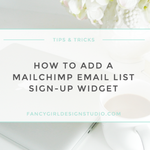 How to Add a Mailchimp Mailing List Sign-Up Widget