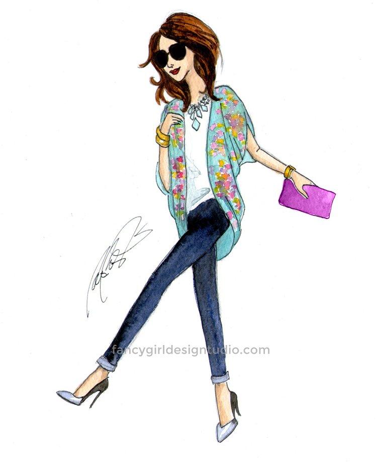 fashion illustration - samantha
