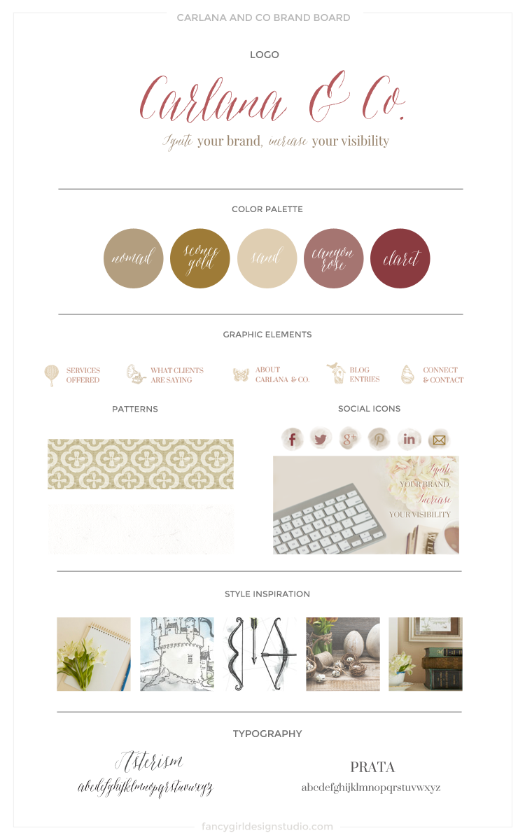 BRAND BOARD FOR CARLANA AND CO