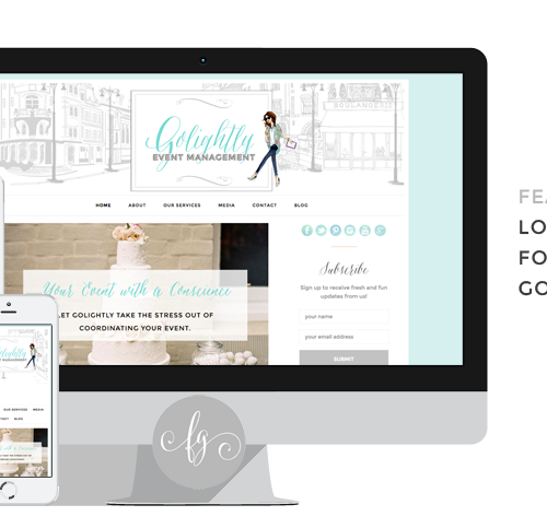 Featured Project: Logo and Web Design for Golightly Events
