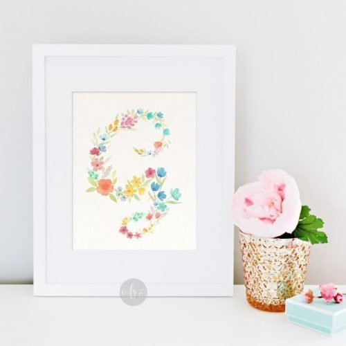 New on the Shop! Floral Alphabets