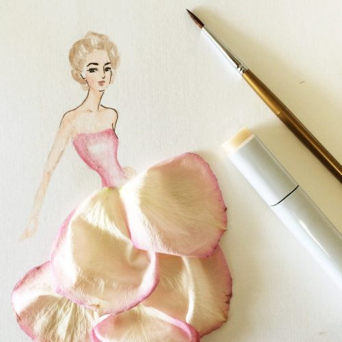 Art in Rose Petals