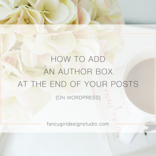 How to Add an Author Box at the End of Your Posts