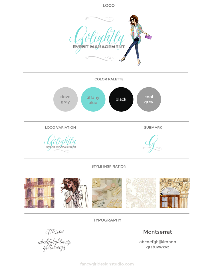golightly-brandboard-FancyGirlDesigns