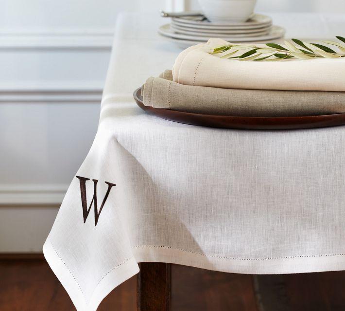 pb classic linen tablecloth