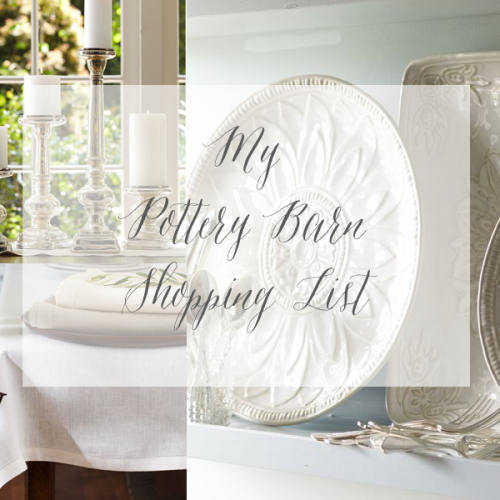 Pottery Barn, Here I Come!