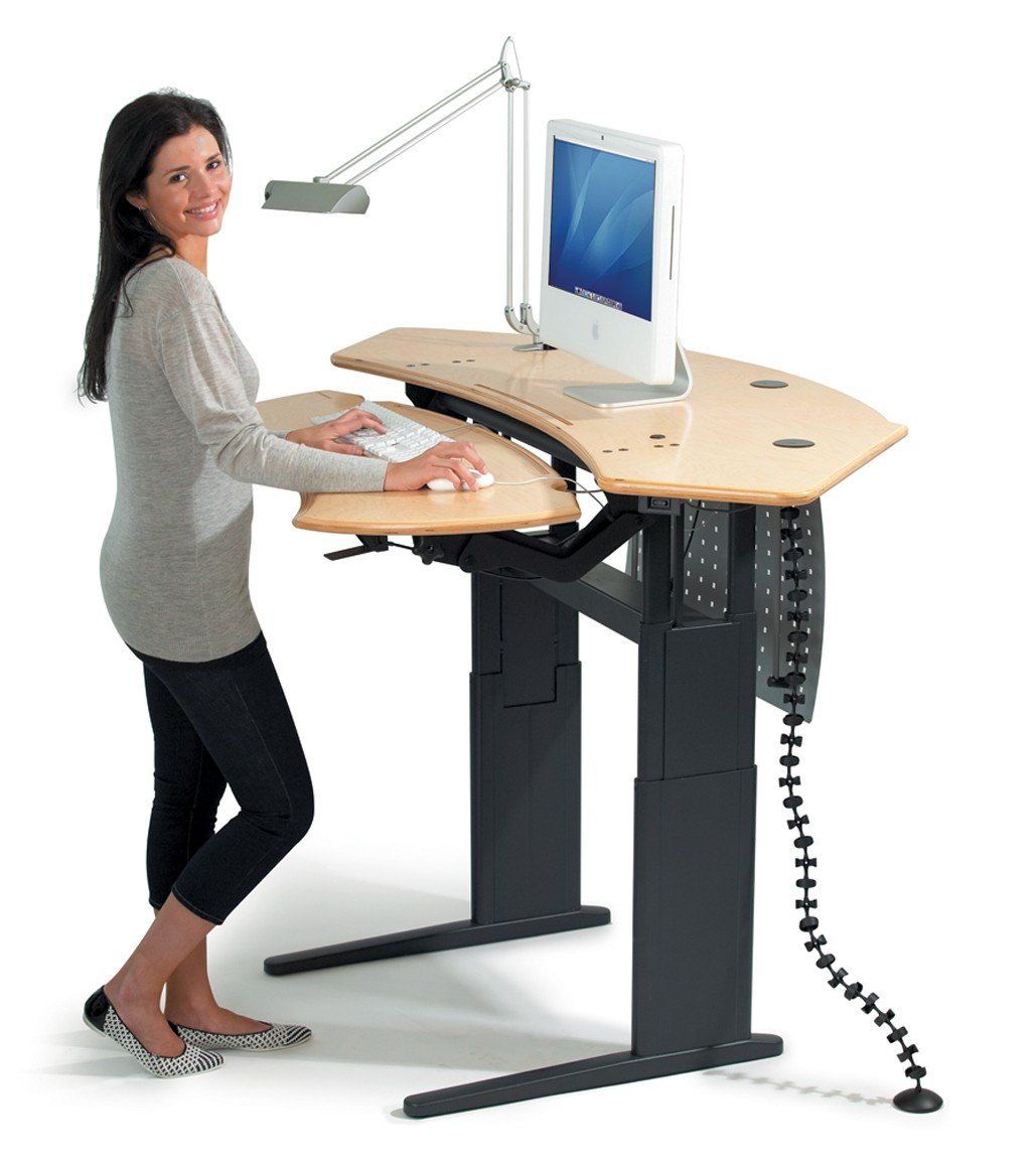 working on a standing desk fancy girl designs