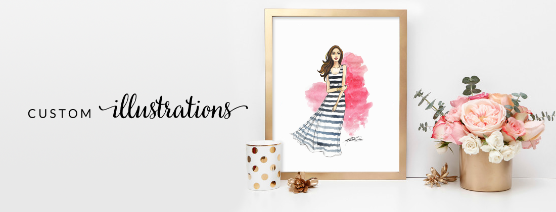 custom illustrations by fancy girl design studio
