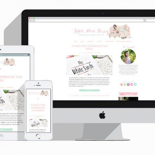 Featured Project: Blog Design for Little Miss Honey