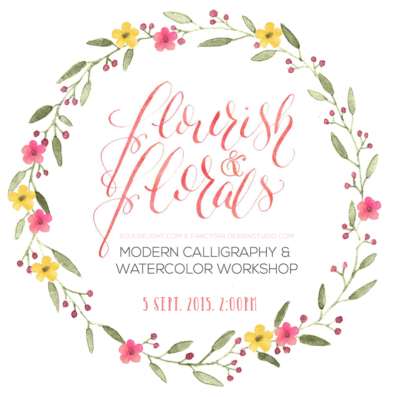 Flourish & Florals – Calligraphy & Watercolor Workshop