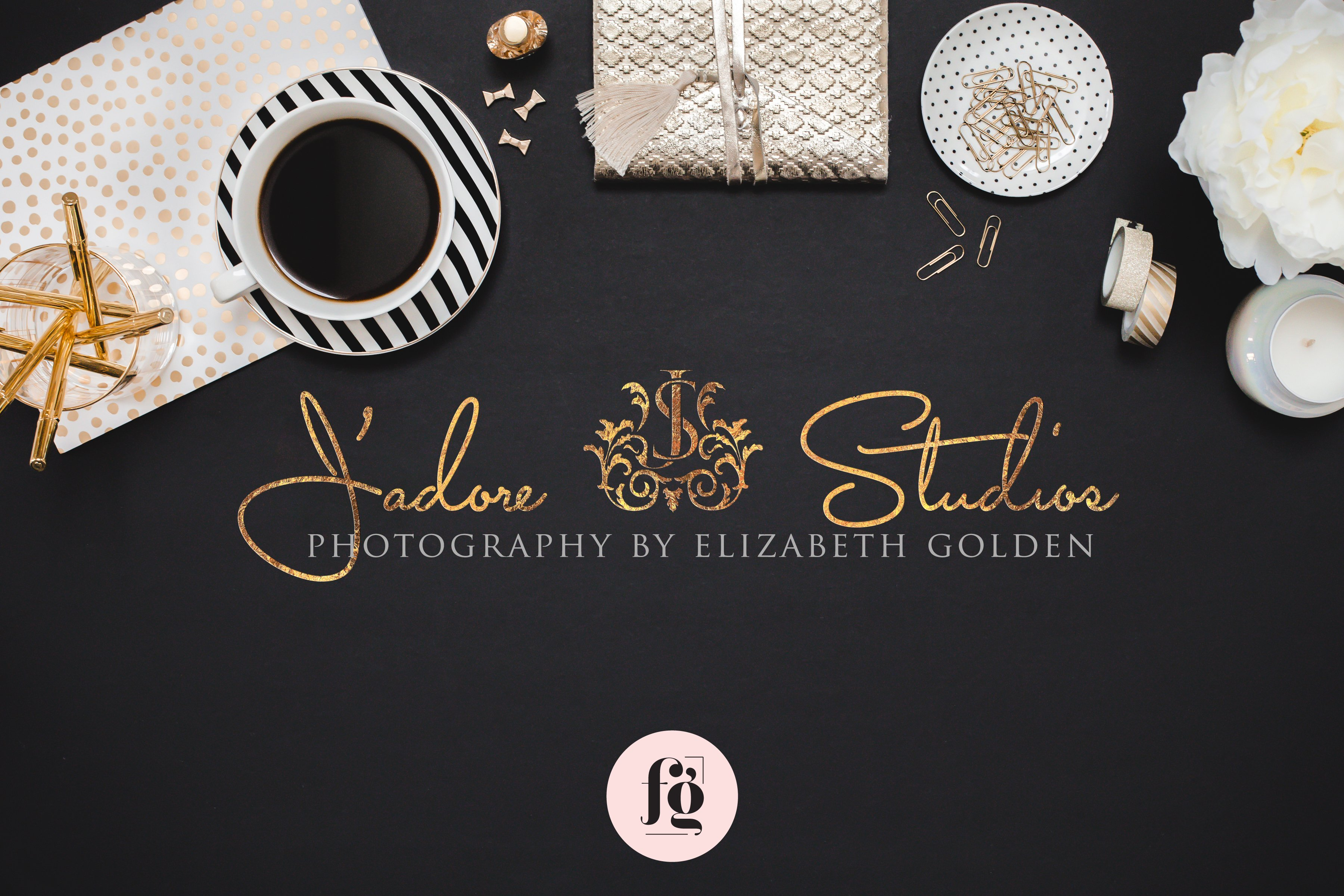 premium logo design for J'adore Studios Photography by Fancy Girl Design Studio