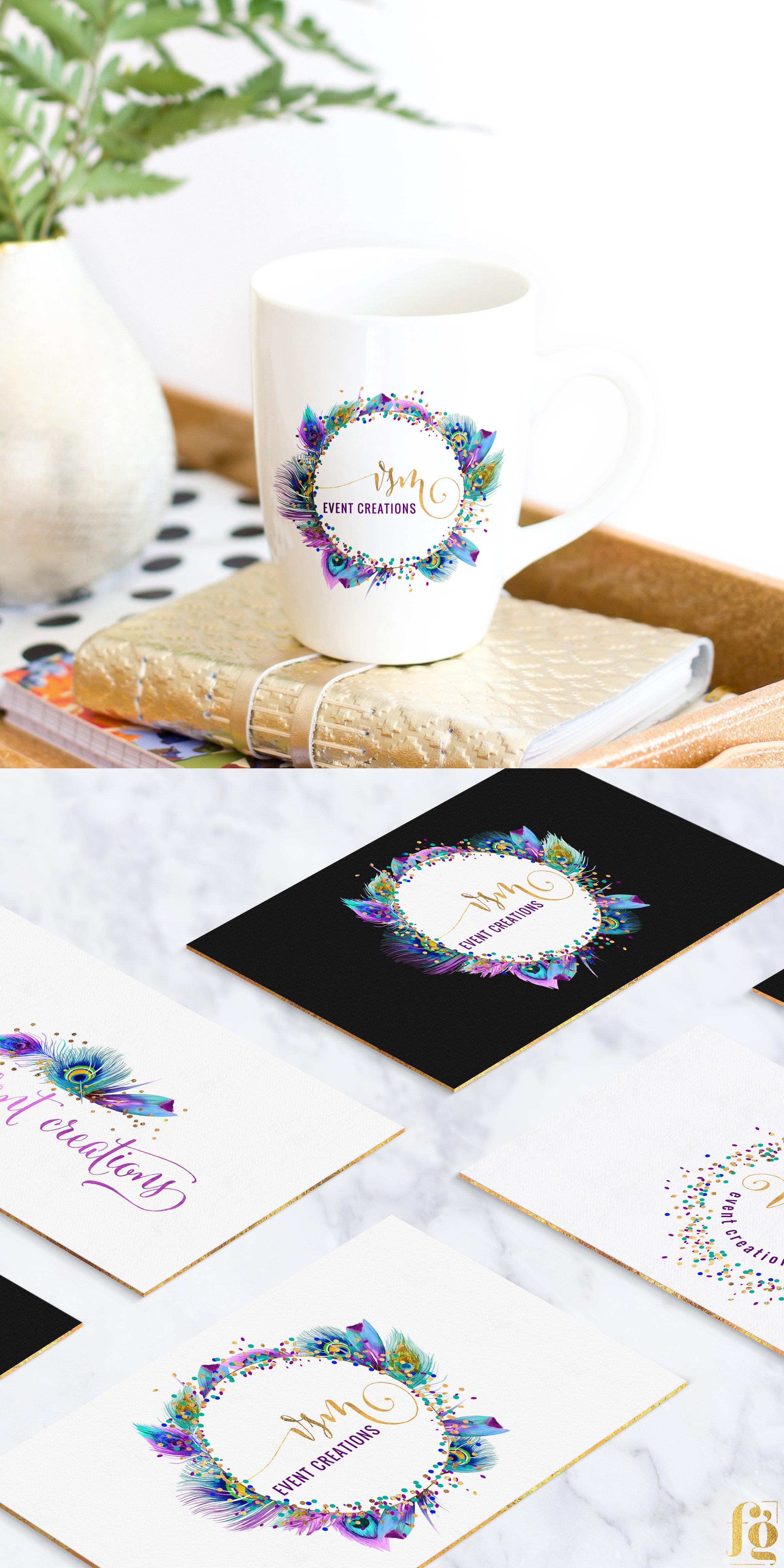 logo display mockup for VSM Event Creations by Fancy Girl Design Studio
