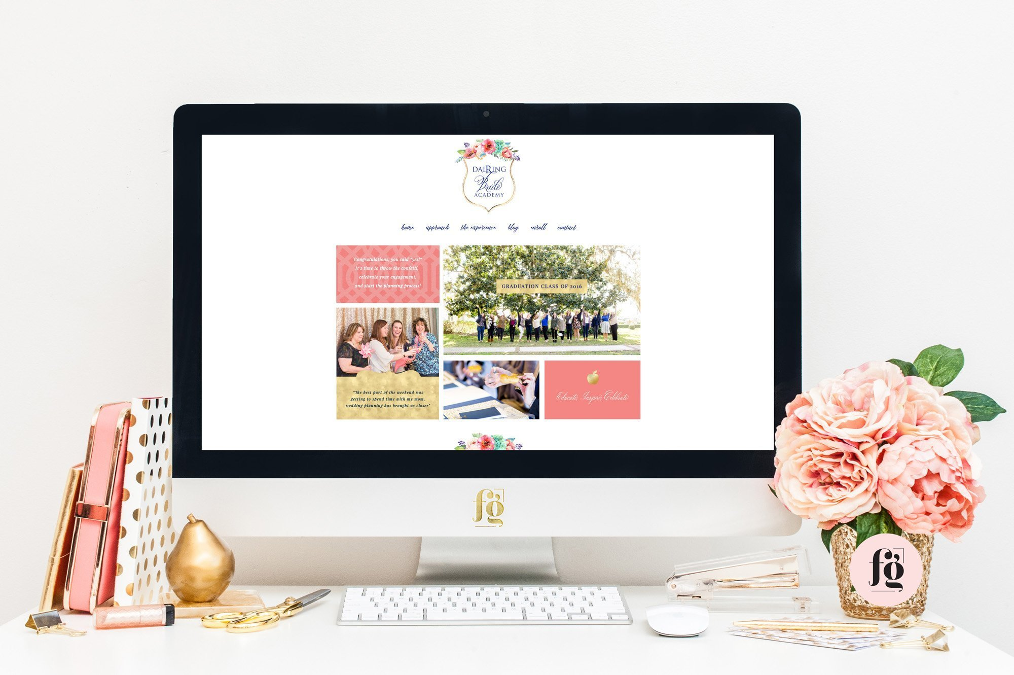 Website Design for Dairing Bride Academy by Fancy Girl Design Studio