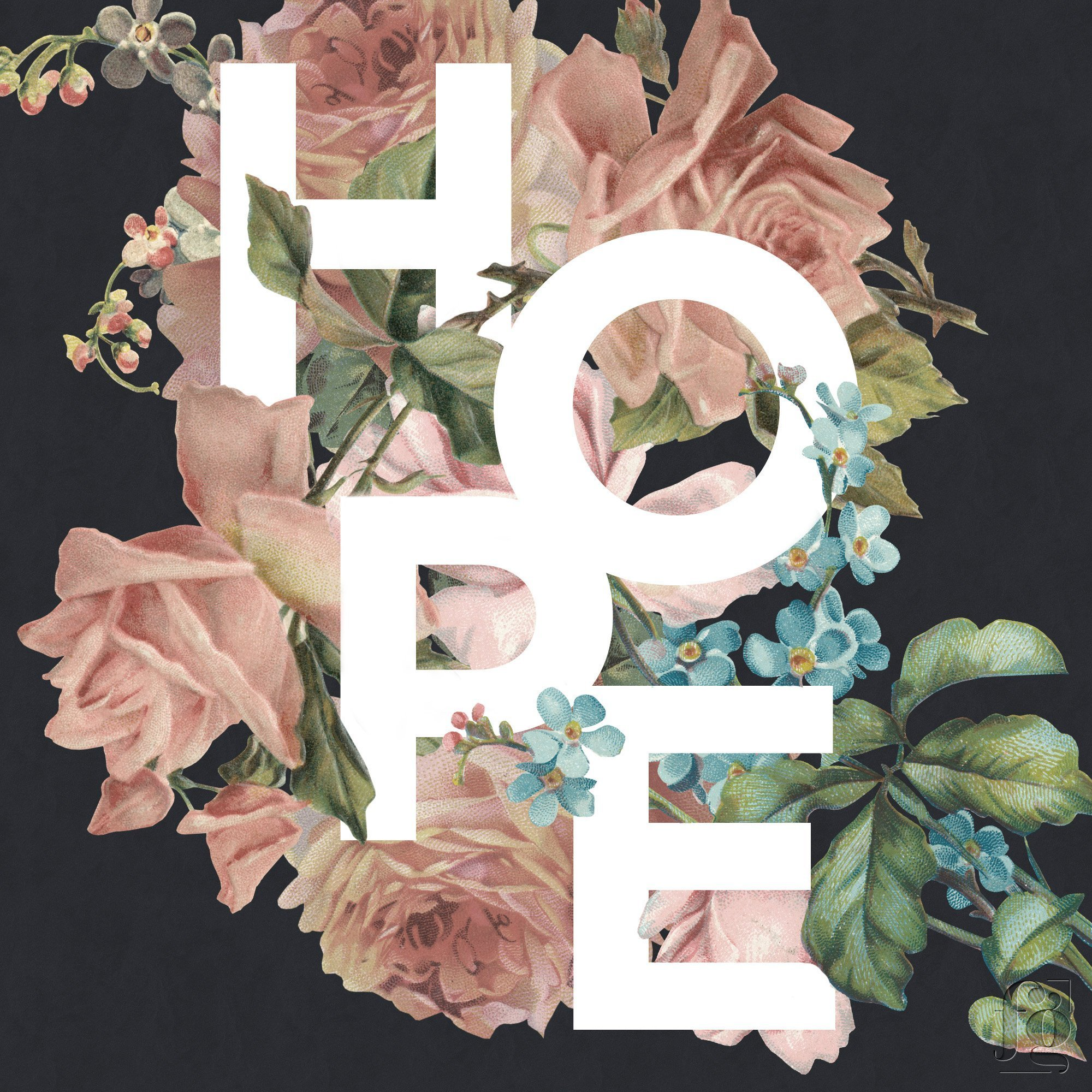 Hope by Fancy Girl Design Studio Black Background