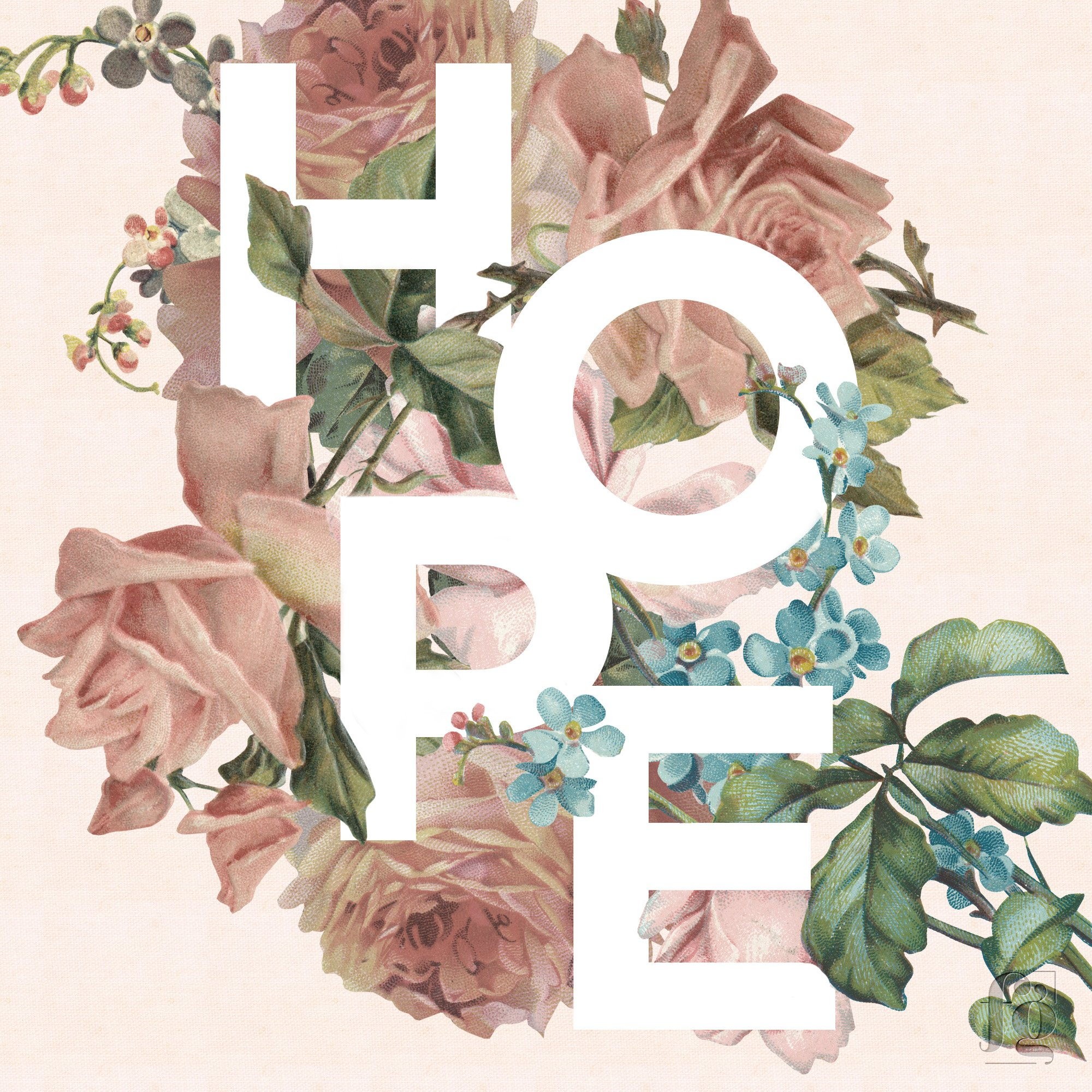 Hope by Fancy Girl Design Studio Pink Background