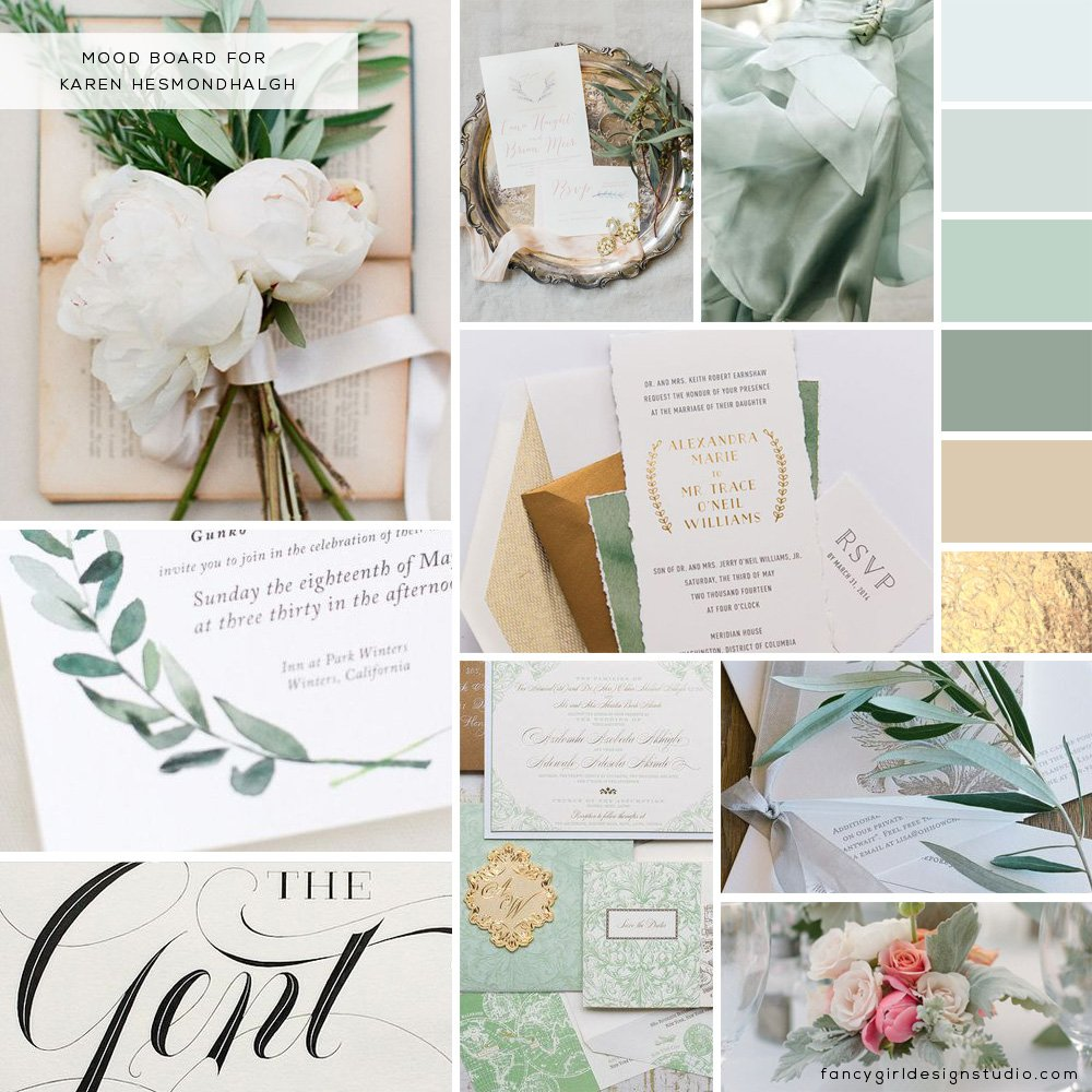 Karen Hesmondhalgh Moodboard by Fancy Girl Design Studio