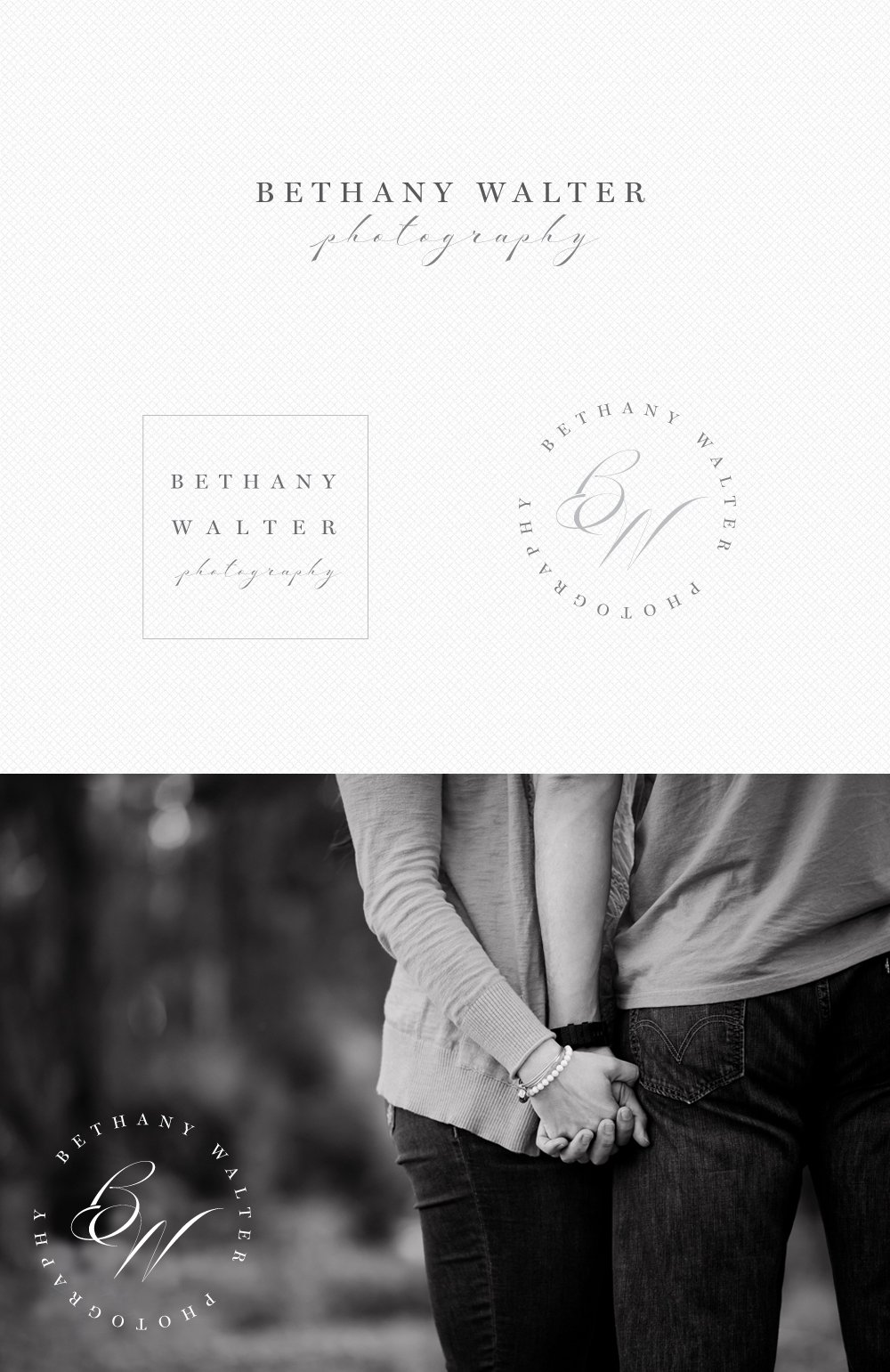 Logo design for Bethany Walter Photography, by Fancy Girl Design Studio