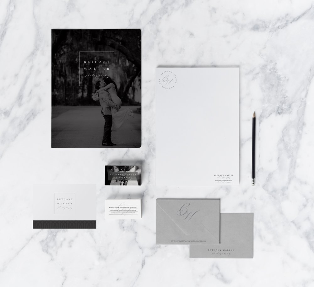 Stationery Suite Design for Bethany Walter Photography, by Fancy Girl Design Studio