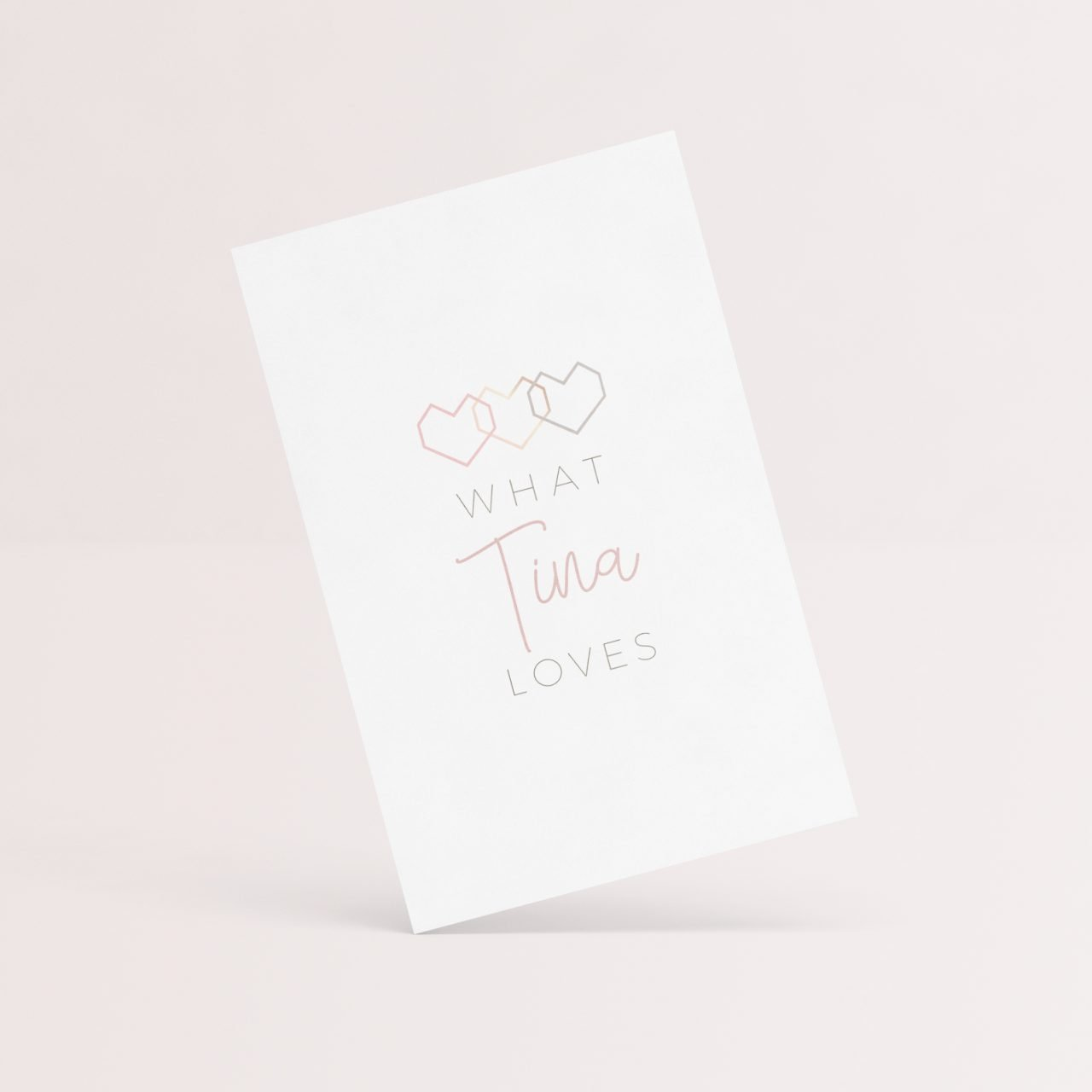 What Tina Loves logo mockup by Fancy Girl Design Studio