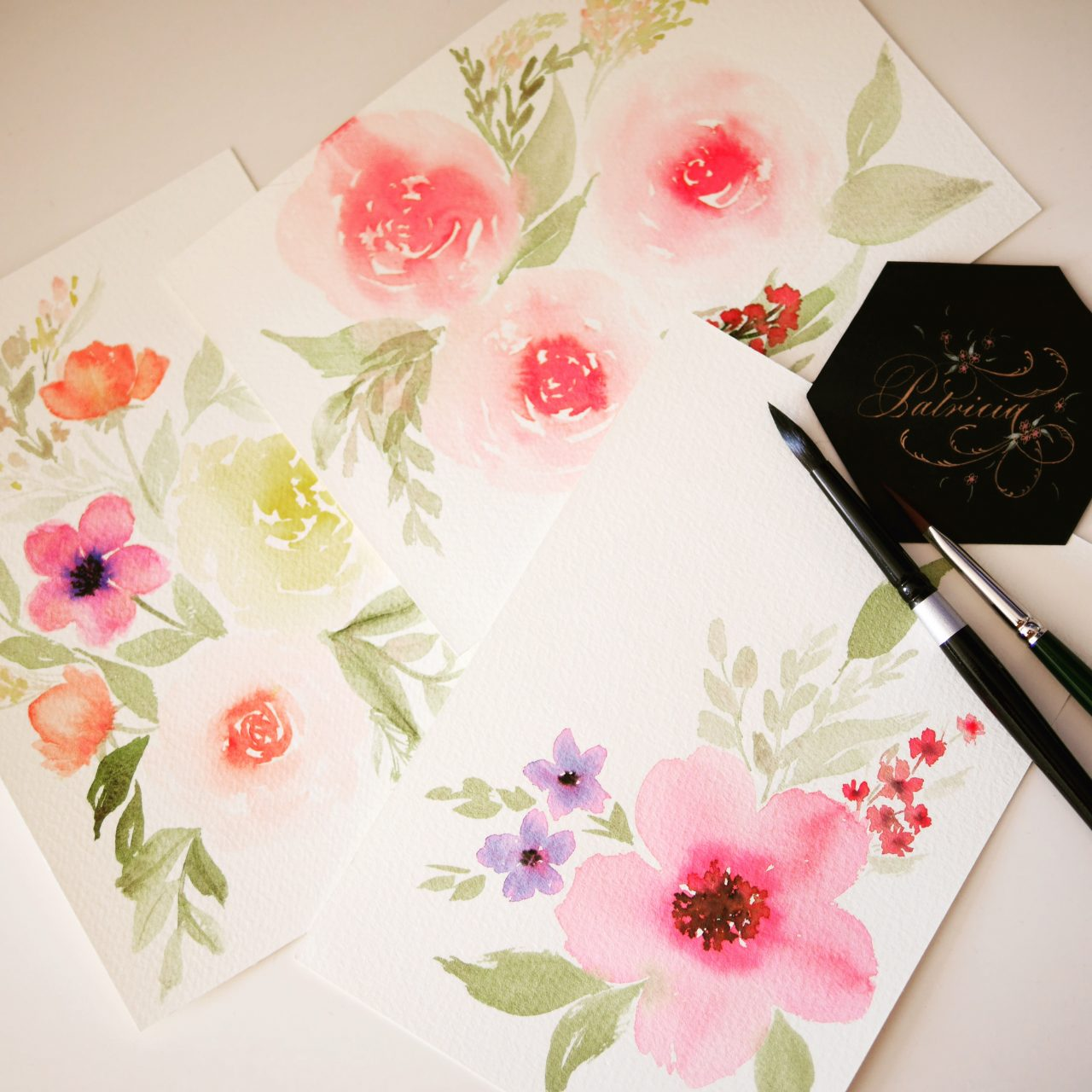 loose florals in watercolor, by patricia alix