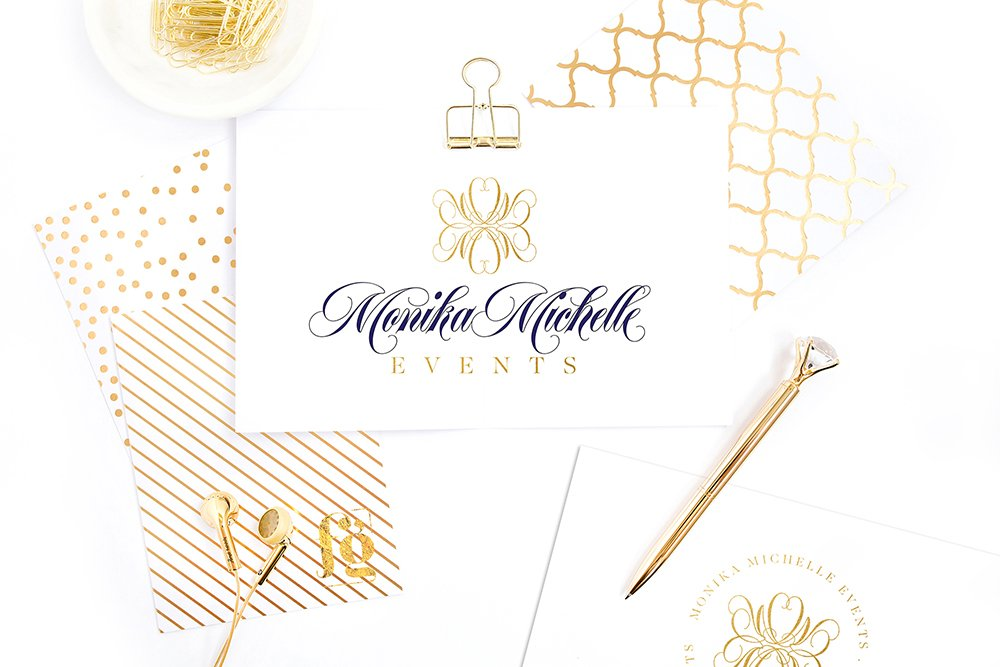 Monika Michelle Events Logo Design by Fancy Girl Design Studio