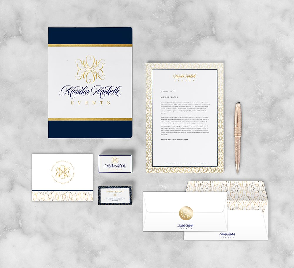 Monika Michelle Events Stationery Suite design by Fancy Girl Design Studio