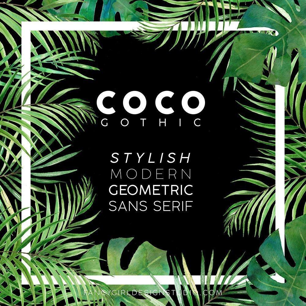 Coco Gothic typography poster