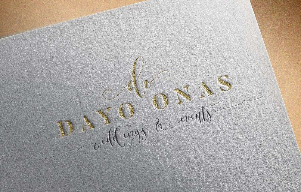 logo design mockup for Dayo Onas Events