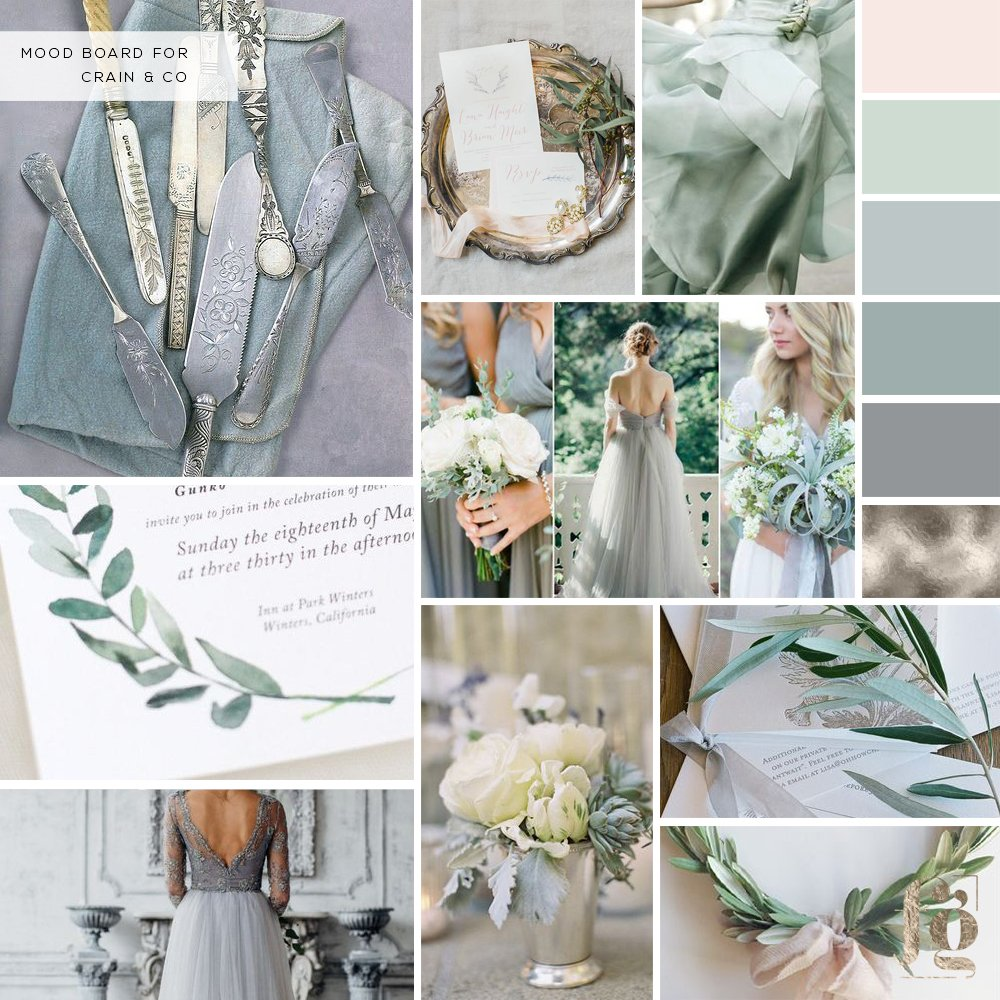 moodboard for Crain + Co by Fancy Girl Design Studio