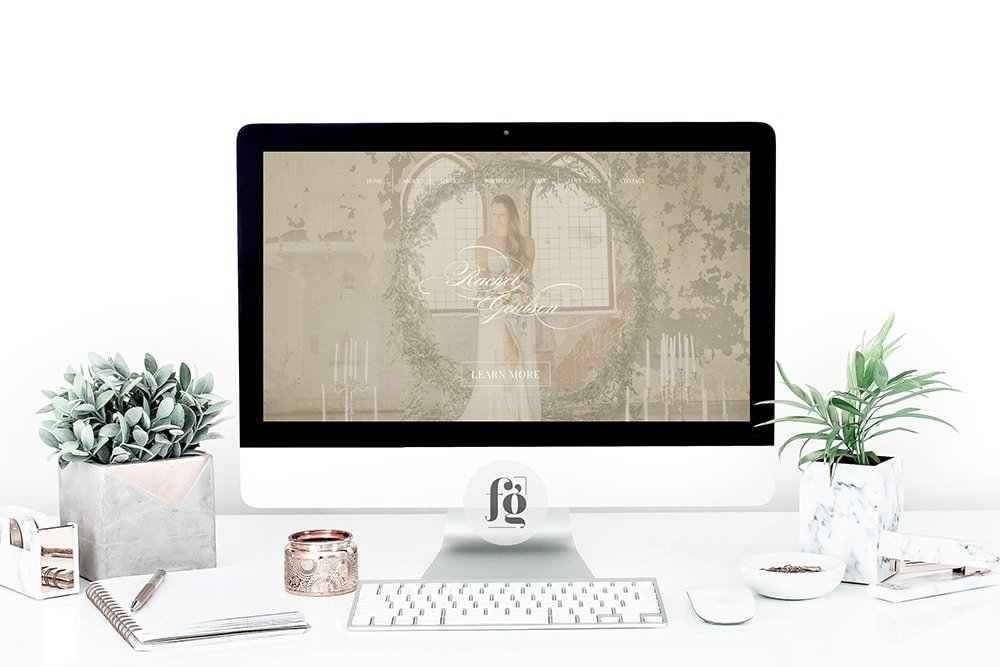rackelgehlsenweddings.com website design by Fancy Girl Design Studio