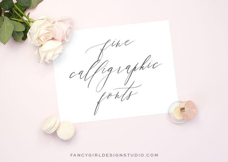 Fine  Calligraphic  Fonts