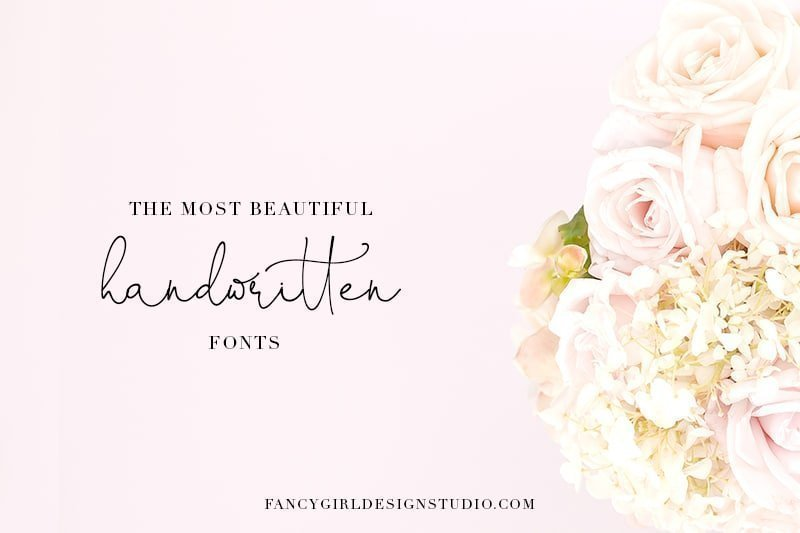 The most beautiful handwritten fonts