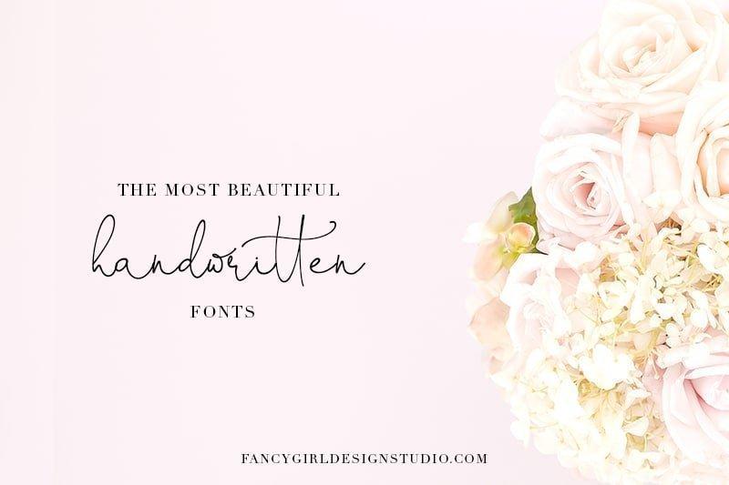 The most beautiful handwritten fonts