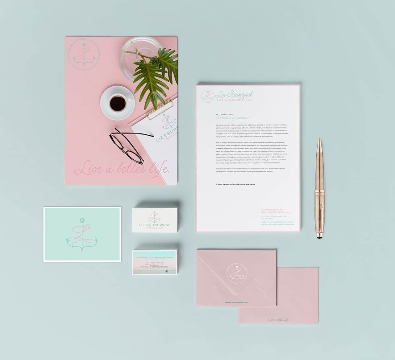 Liz Brunswick Coaching Stationery suite by Fancy Girl Designs