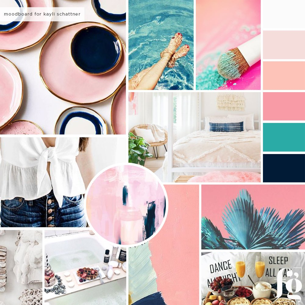 kayli schattner mood board by fancy girl design studio