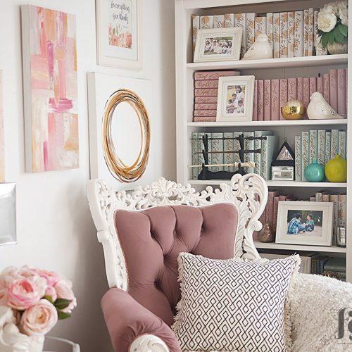 Styling a bookshelf full of books