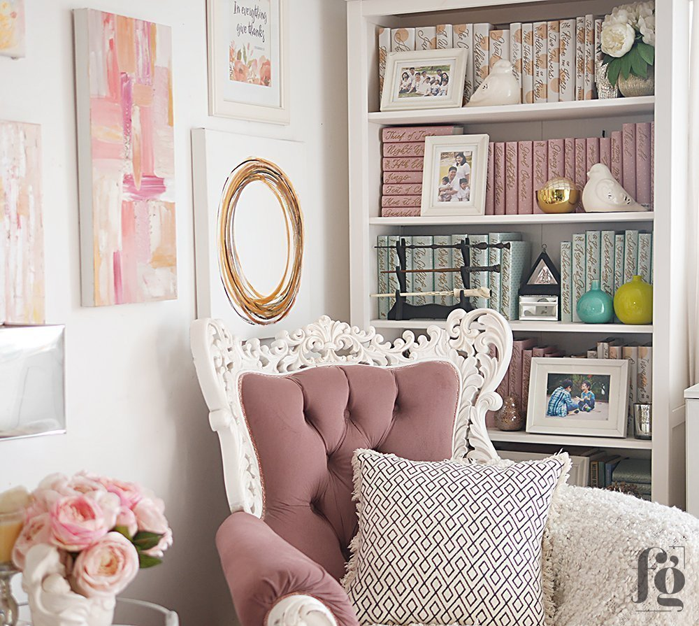 styling a bookcase full of books