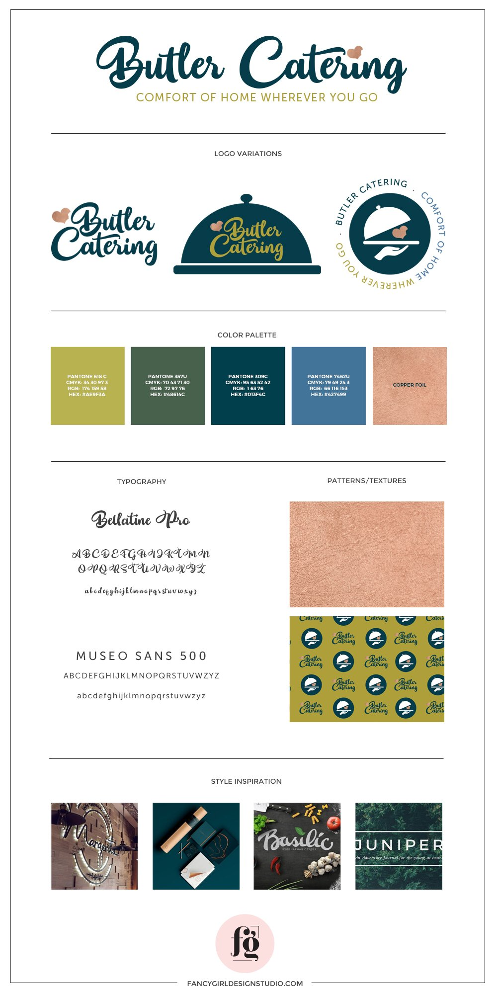 brand guide for butler catering