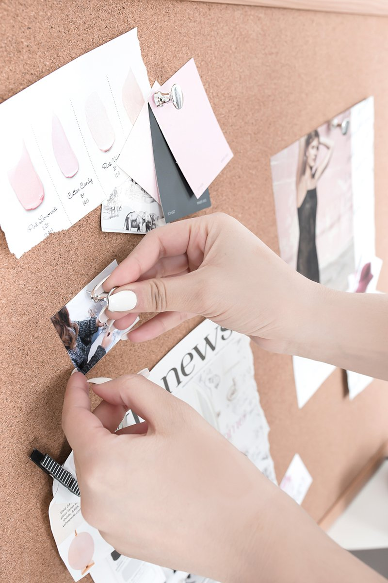 a vision board helps identify your core message